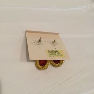 Amrita Singh Jewelry - Amrita Singh Gold Coral/Fuschia Crystal Earrings